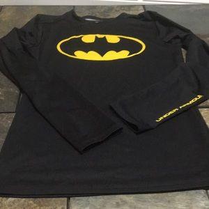 Under armor black Batman long sleeve T-shirt
